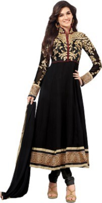 Shree Haree Georgette Embroidered Semi-stitched Salwar Suit Dupatta Material