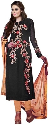 Shop Well Soon Georgette, Net Embroidered Salwar Suit Dupatta Material