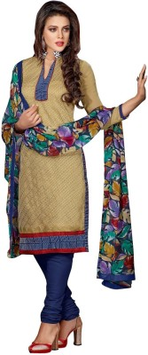 K D Collection Chanderi Embroidered Salwar Suit Dupatta Material