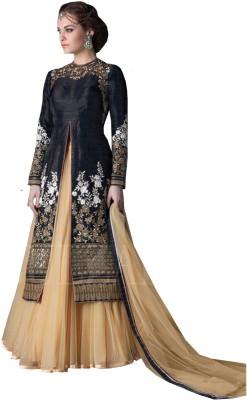 RGNRetails Net Embroidered Lehenga Choli Material