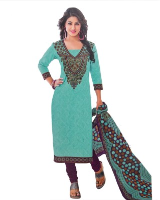 Giftsnfriends Cotton Printed Salwar Suit Material