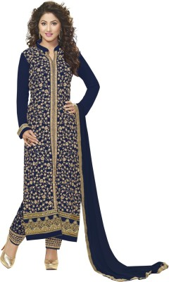 Patiala House Georgette Embroidered Salwar Suit Dupatta Material(Un-stitched) at flipkart