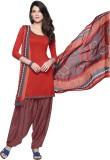 Inddus Crepe Printed Salwar Suit Dupatta...