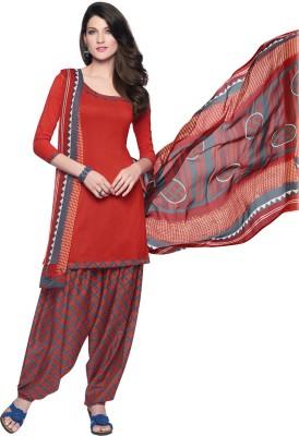 Inddus Crepe Printed Salwar Suit Dupatta Material