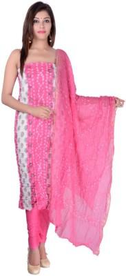 Apratim Cotton Embroidered Kurta & Churidar Material