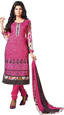 Fabliva Chanderi Embroidered Suit Fabric