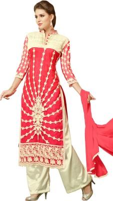 Mastani Georgette Embroidered Semi-stitched Salwar Suit Dupatta Material