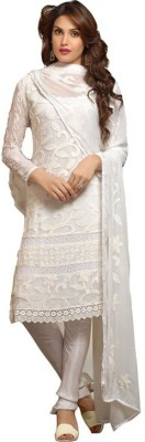 Unique Fashion Chiffon Self Design Semi-stitched Salwar Suit Material
