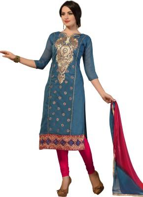 Varanga Chanderi Embroidered Salwar Suit Dupatta Material