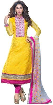 Banjaraindia Chanderi Embroidered Salwar Suit Dupatta Material