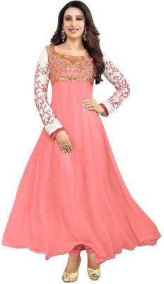 Zenny Creation Georgette Embroidered Dress/Top Material