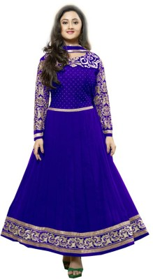 Kabariya Enterprices Georgette Self Design Semi-stitched Salwar Suit Dupatta Material