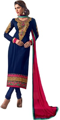 MS Fashion Georgette Embroidered Semi-stitched Salwar Suit Dupatta Material