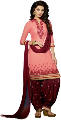 BanoRani Synthetic Georgette Embroidered Salwar Suit Dupatta Material