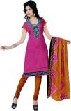 Araja Cotton Printed Semi-stitched Salwa...