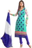 Pakiza Design Georgette Self Design Semi...