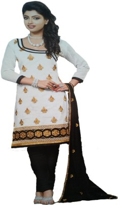 Bombae Design Cotton, Chanderi Embroidered Salwar Suit Dupatta Material