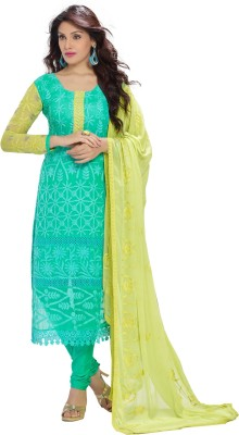 Nandani Fashion Georgette Embroidered Semi-stitched Salwar Suit Dupatta Material