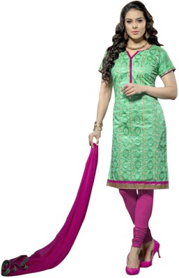 Shyam Suits Chanderi, Cotton Embroidered Salwar Suit Dupatta Material