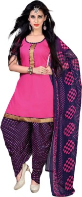 SUSETRENDZ Synthetic Printed Salwar Suit Dupatta Material