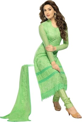 Fashion World Chiffon Embroidered Salwar Suit Material