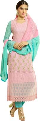 Khushali Chiffon Self Design, Embroidered Salwar Suit Dupatta Material