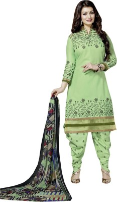 Sidhi Craft Cotton Embroidered Salwar Suit Dupatta Material