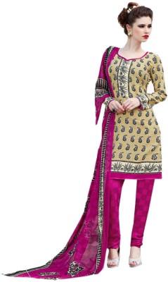 Panku Synthetic Floral Print Salwar Suit Dupatta Material