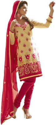 Ere Chanderi Embroidered Dress/Top Material