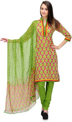 PinkShink Cotton Floral Print Salwar Suit Dupatta Material