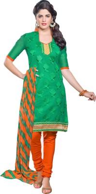 Fabfiza Chanderi Embroidered Salwar Suit Dupatta Material
