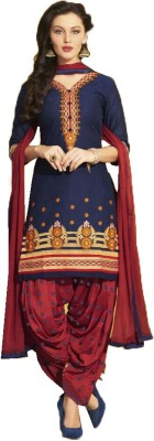 Cilver Fashion Cotton Embroidered Salwar Suit Material