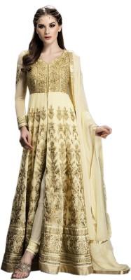 mGm Creation Georgette Self Design Semi-stitched Salwar Suit Dupatta Material