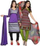 Lookslady Chanderi Embroidered Salwar Su...