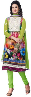 Khusahli Satin Self Design, Floral Print Dress/Top Material
