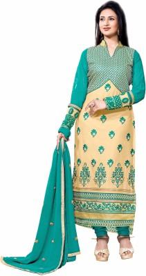Divine Enterprise Cotton Embroidered Semi-stitched Salwar Suit Dupatta Material