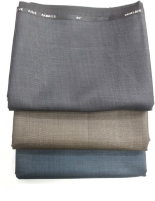 Gwalior Polyester, Viscose Solid Trouser Fabric