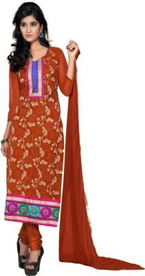 Vimush Fashion Net Embroidered Semi-stitched Salwar Suit Dupatta Material