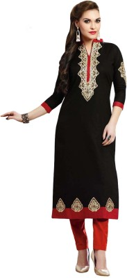 Whatshop Cotton Embroidered Kurti Fabric