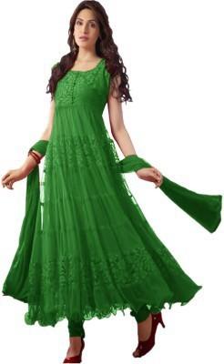 SHREEVILLA FASHION Net Embroidered Semi-stitched Salwar Suit Dupatta Material