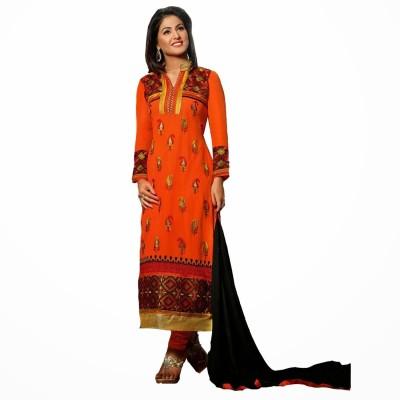 Fabfirki Georgette Self Design Semi-stitched Salwar Suit Dupatta Material