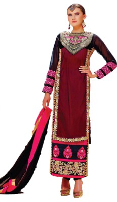 YourDesignerWear Georgette, Net Solid Semi-stitched Salwar Suit Dupatta Material