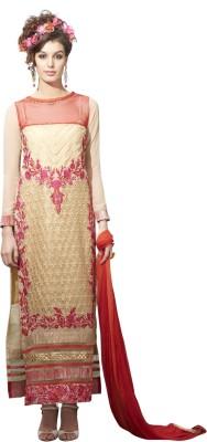 Fabliva Georgette Embroidered Semi-stitched Salwar Suit Dupatta Material