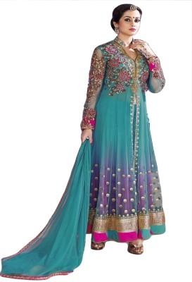 Justkartit Net Embroidered Semi-stitched Salwar Suit Dupatta Material