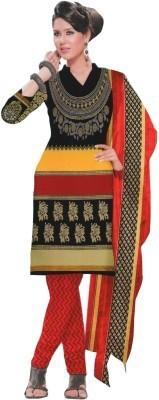 Deekay cloth house Synthetic Printed Salwar Suit Dupatta Material