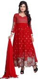 Youth Mantra Georgette Embroidered Salwa...
