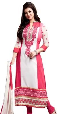 Shagun garments Georgette Embroidered Semi-stitched Salwar Suit Dupatta Material