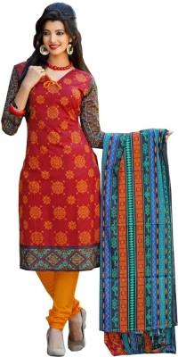 GoAavaran Cotton Printed Salwar Suit Dupatta Material