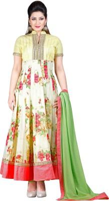 Forshe Trendz Georgette, Chiffon Floral Print Salwar Suit Dupatta Material