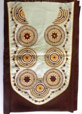 Vaividh Cotton Embroidered Kurti Fabric